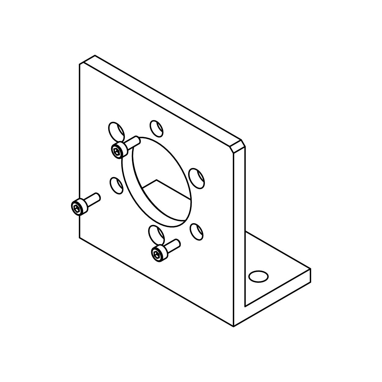 Right Angle Mounting Bracket for MHM5 Image