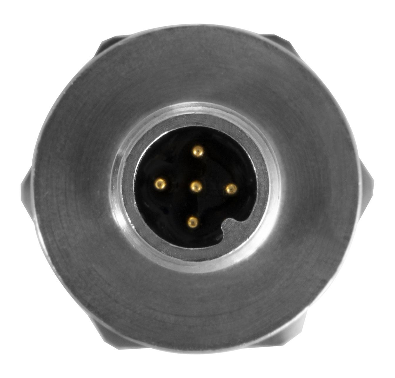 Product image of PTE7300 Hermetic Pressure Sensor m12 top view