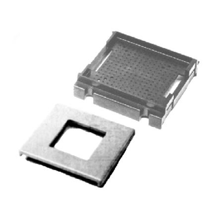 Image of two piece 2x2 universal pin grid with clip